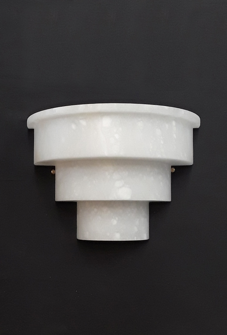 Alabaster Steppped Sconce